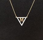 Diamond Triangle or Circle Initial Necklace