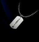 Dog Tag Name Silver Necklace
