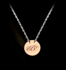 Engraved Gold Disc Monogram Necklace