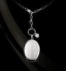 Engraved Oval Locket by Jane Basch