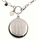 Engraved Round Locket by Jane Basch