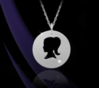 Girl Silhouette Pendant Necklace