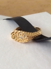 Gold Lace Cut Out Monogram Ring