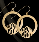 Hoop Earrings with Monogram by Jane Basch