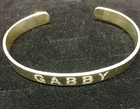 ID Sterling Silver Personalized Open Cuff