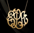 Jane Basch Freeform Script Monogram Necklace