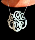 Jane Basch 3 Inch Monogrammed Necklace