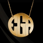 Jane Basch Modern Block Monogram Necklace