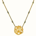 Jane Basch Monogram Pendant on CZ Chain