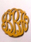 Lace Cut Out Monogram Necklace Solid Gold