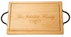 Personalized Wood Cutting and Serving Board with Handles