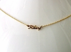 Mini Script Name or Word Necklace