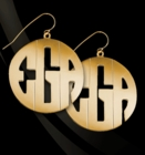 Jane Basch Modern Block Monogrammed Dangle Earrings