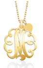 Mommy Monogram Cut Out Pendant Necklace