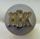 Monogram Cuff Links Silver and Gold