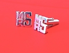 Monogram Cuff Links in Sterling Silver