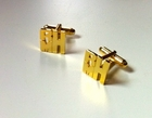 Gold Monogram Cut Out Cuff Links