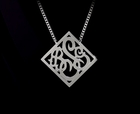 Monogram Necklace Diamond Shaped