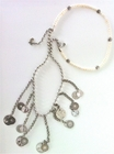 Pearls, Silver Charms and Beads Convertible Long Necklace