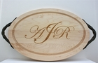Personalized Oval Wood Cutting and Serving Board