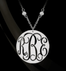 Pierced Monogram on a CZ Chain Necklace
