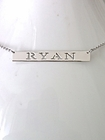 Pierced Nameplate Bar Necklace