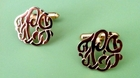 Monogrammed Cufflinks in Silver or Gold