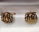 Monogrammed Script or Block Cufflinks In Silver or Gold