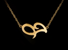 Jane Basch Sideways Initial Necklace