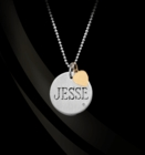Sterling Silver Disc Charm with Diamond & Heart Accent
