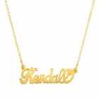 Solid Gold Nameplate Necklace by Initial Reaction