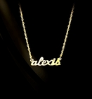 Solid Gold Petite Lowercase Nameplate Necklace
