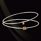 Jane Basch Stackable Initial Bangle Bracelet