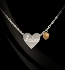 Jane Basch Sterling Silver Engraved Heart Necklace