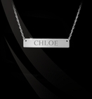 Jane Basch Engraved ID Bar Nameplate Necklace