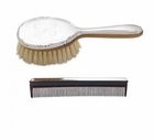 Monogrammed Girl's Brush & Comb Set in Sterling Silver
