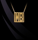 Two Initial Geometric Monogram Necklace
