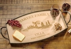 Villa Serving Tray Personalized