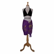 Half Seashell Sarong Purple