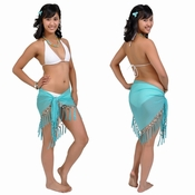 Sheer Sarong in Turquoise