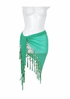 Sheer Sarong in Turquoise/Green