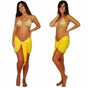 Yellow Dragonfly Half Sarong/Mini Sarong