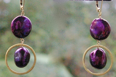 Plum Coin Pearls