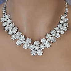 BRIDAL FLOWERS CONNECTED WEDDING JEWELRY SET