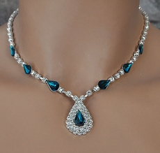 Bridesmaids Rhinestone Jewelry - Blues, Greens