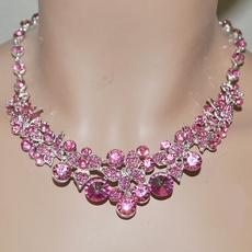 Bridesmaids Rhinestone Jewelry - Pinks, Fuchsia