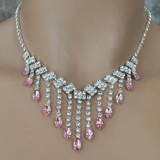CRYSTAL DRIZZLE PINK JEWELRY SET