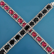 CRYSTAL FUSION BRACELET - BLACK or FUSCHIA