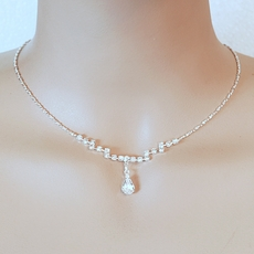 DELICATE RHINESTONE SILVER JEWELRY SET - SOLD OUT