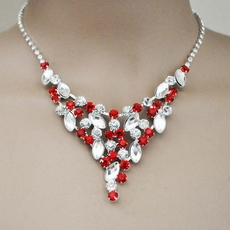 GRANDIOSO RED RHINESTONE BRIDESMAIDS JEWELRY SET